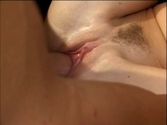 Legal Age Teenager chick rides a strapon on the bed