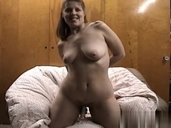 Playing with my sex toy in the bedroom