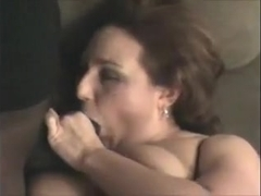 Swinger big beautiful woman wife loves to engulf rod and take up with the tongue a-hole