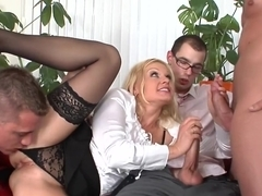 Crazy pornstar in exotic blonde, gangbang sex video
