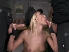 Chary Kiss is having sex with two pretty pals