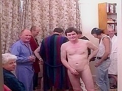 Ten old boyz fuck a younger blond with anal