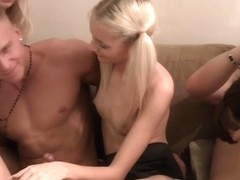 Crazy group orgy at drunk student party