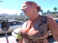 Heavy chested whore Eden sucks fat cock in pov