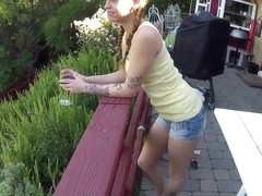 Christening the Balcony With An Outdoor BJ