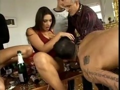 Sex party with huge double penetration action