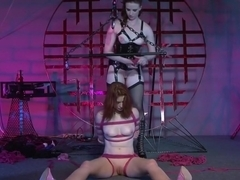 Horny pornstars Claire Adams and Justine Joli in incredible small tits, dildos/toys adult clip