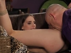 Tina Blade tied up and fucked by old fart