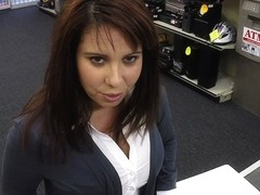 Busty and sexy Milf sells card collection gets fucked by Shawn
