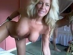 Stunning blonde older on cam !!