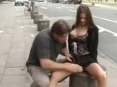 German Legal Age Teenager bonks in the public