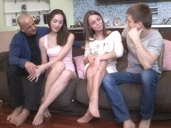 Yan & Foxy Di & Aruna Aghora & Simon in Girls Surprise With A Sex Party - YoungSexParties