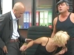 Golden-Haired Secretary Copulates Her Boss