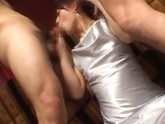 Fabulous Japanese chick in Hottest MILFs, Threesomes JAV movie