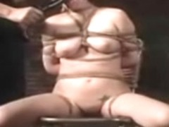 BDSM Movie includes Caged and tied female slaves