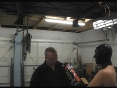 Slut Wife in BDSM Garage Training