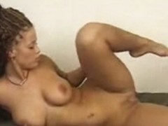 Lengthy-haired gal dances her clothing off