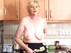 Granny feels aroused and needs to receive off