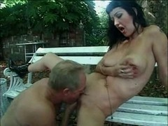 British floozy Violet Storm acquires drilled in the garden