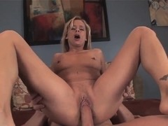Cock hungry Payton Leigh gets her holes drilled