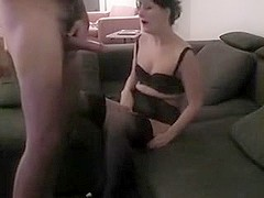 Throating and swallowing training of his wife