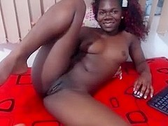 My amateur ebony video shows me posing on web camera