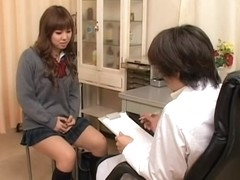 Japanese sex video with pussy fingering and gyno examination