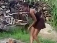 Black woman inflicts punishment her maid