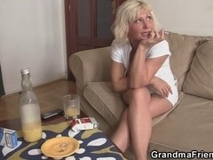 Three-Some fucking with old whore