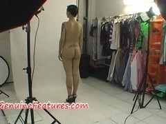Tattooed rebel in real backstage video