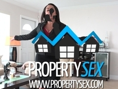 Hot big tit real estate agent uses sex to sell house