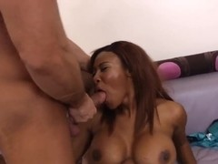 Sweet Ebony milf Jessica Dawn fucks hard her son's best friend