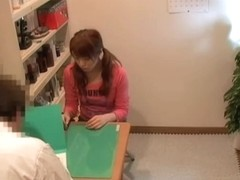 Cute Japanese creampied well in medical fetish video