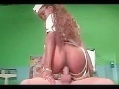Ebony Nurse For White Boy