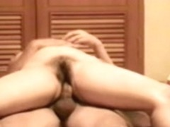 Korean older wife riding like a pro