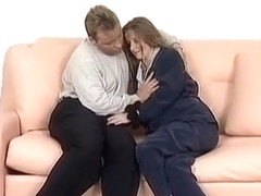 A pregnant slut gets fucked doggy style.