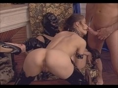 Masked Whore Acquires Fisted By Captivating Little German