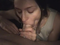 This naughty non-professional pov oral movie shows me engulfing cock in the darksome and getting c.