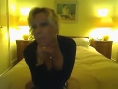serf boy obeys the blonde mistress sex wishes