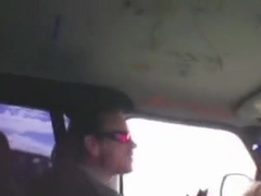 Slut sucked and got fucked in a car