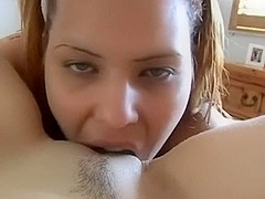 Lovely lez play with my gf