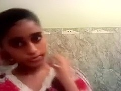 Indian young girlfriend on homemade POV sex movie sucking dick