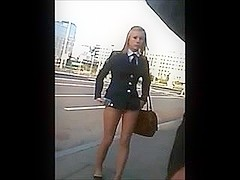 Public Candid Movie Scene Of Sexy Russian Angels Flashing Their Pants