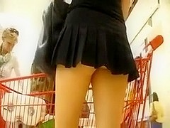 My wife looks very alluring in her dangerously short skirt