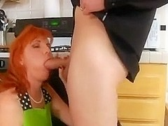 Mature Hairy Redhead Taken In the Kitchen