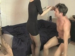 Candi Love Treats her Sex Slave Sweetly with a Handjob
