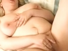 Overweight big beautiful woman Golden-Haired Ex GF playing with her Pantoons and Love Tunnel