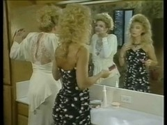 Retro lesbian porn with two hot blonde horny whores