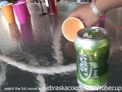 strip beer pong college drinking game