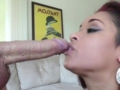 1000Facials Tattooed redhead pornstar Skin Diamond face